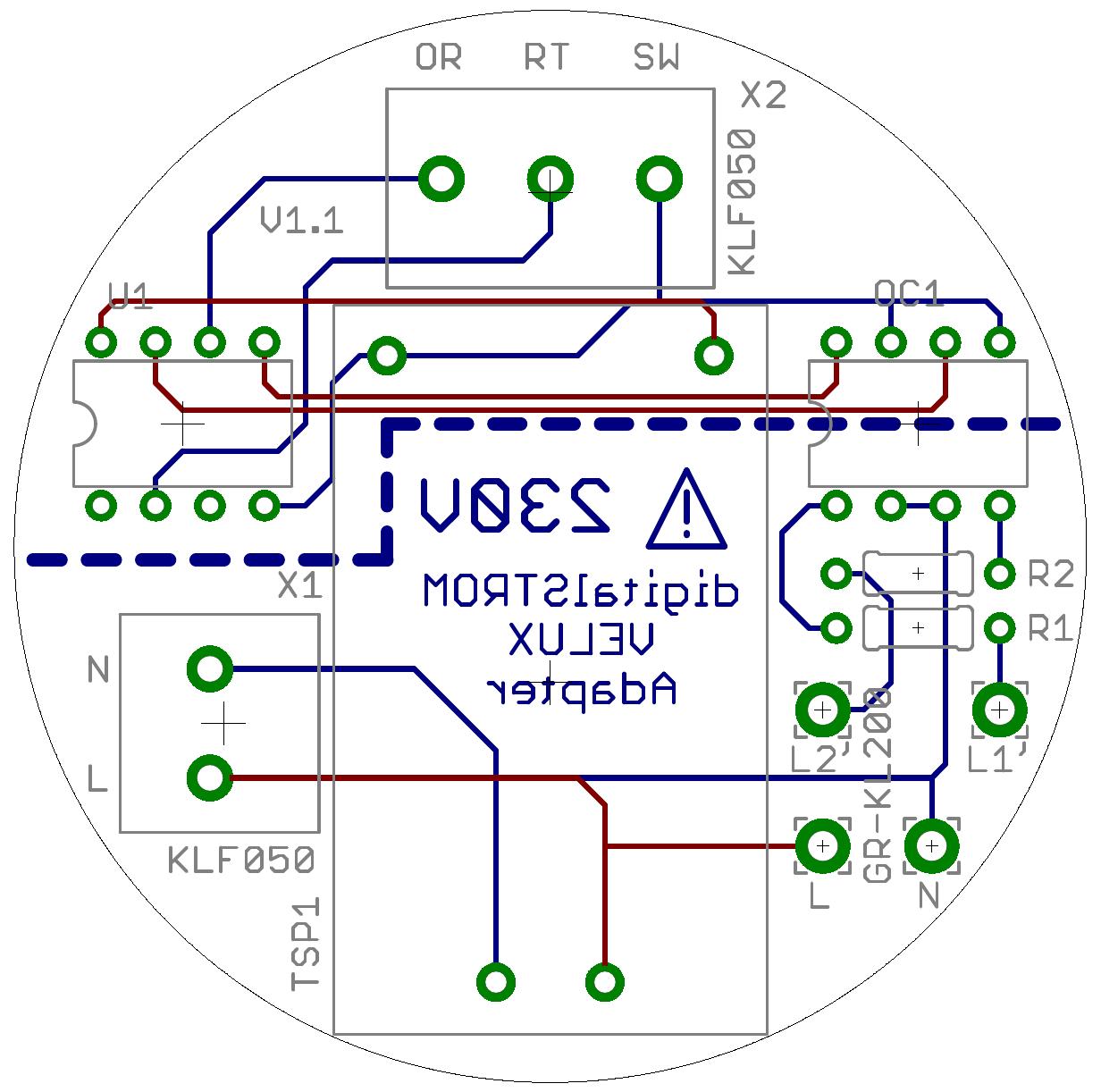 Interface zur Verbindung einer digitalSTROM-Klemme GR-KL200 ... on